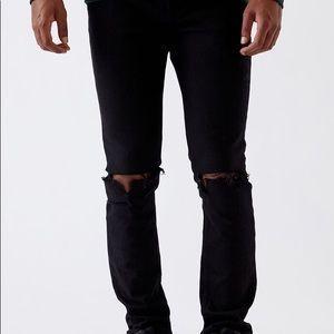 Pac-Sun Skinny Ripped Black Jeans (30x30)